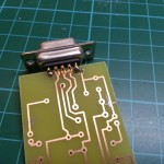 7) Start to solder DB9 connector to the PCB