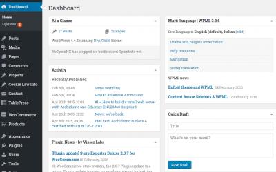 Come sostituire i caratteri di default nella sezione Admin di WordPress